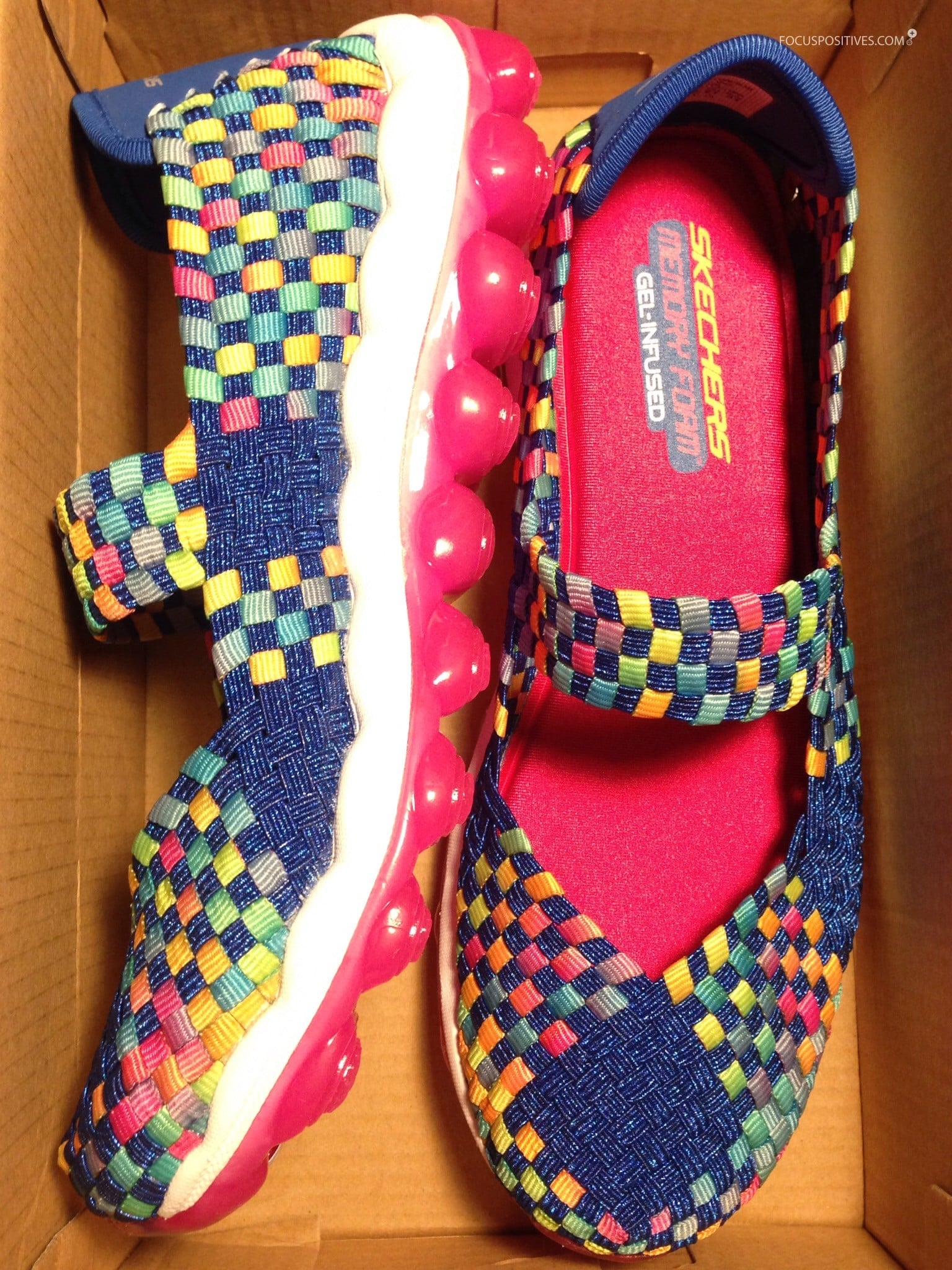 7824309244a Review  Skechers Girl s Glitzy Fitz Blue Multicolor Mary Jane Shoe ...